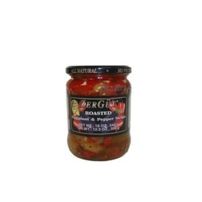 Eggplant and Pepper Strips (Roasted) - 19oz by ZerGut.