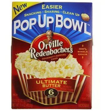 Orville Redenbacher's Gourmet Microwavable Popcorn, Ultimate Butter, 6-Count Boxes (Pack of 6)
