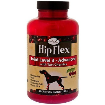 NATURVET 978304 Overby Farms Hip Flex Jt Lvl 3 Chew Tabs for Pets, 40-Count