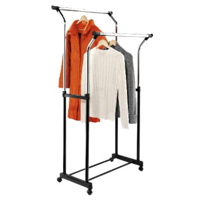 Honey-Can-Do Flared Double Garment Rack