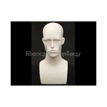 (MD-EraW2) Roxy Display Matte White Male Mannequin Head
