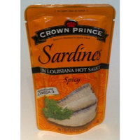 Crown Prince Sardines in Louisiana Hot Sauce (Spicy) - Omega 3 - 3.53oz (2pack) - Product of Thailand