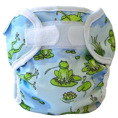 Bummis Super Whisper Wrap, Froggy Pond, 8-15 lbs,