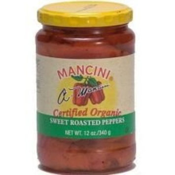Mancini Organic Roasted Red Peppers - 12 oz. jar, 12 jars per case