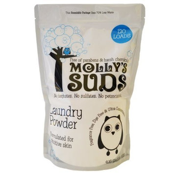 Molly's Suds Laundry Powder 120 loads - All Natural, Free of Parabens, Harsh Chemicals, Synthetic Fragrance & Dyes, Great for Sensitive Skin - 70.4 oz (1.99 Kgs)