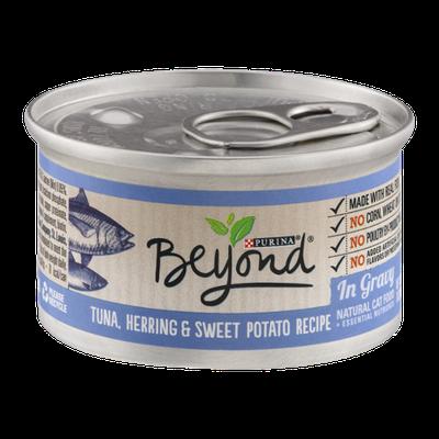 Purina Beyond Natural Cat Food Tuna, Herring & Sweet Potato Recipe In Gravy
