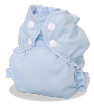 AppleCheeks 2-Size Envelope Cloth Diaper Cover, Forget-Me-Not, Size 2 (18-35+ lbs)