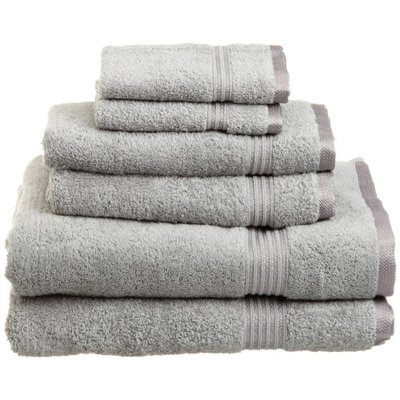Superior Luxury Cotton Multi Piece Towel Set: Luxury Cotton Towels Silver