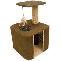 Ware Burlap Cat Hideout Condo and Perch