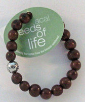 Whitney Howard Designs Seeds of Life Bracelet w Antique Silver World Bead Chocolate Whitney Howard Desi
