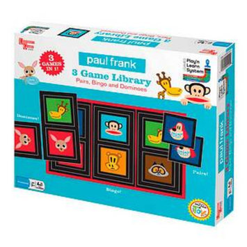 University Games Paul Frank 3 Game Library Pairs