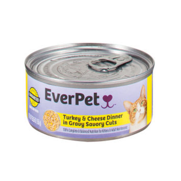 Everpet EverPet Wet Cat Food - Turkey & Cheese in Gravy, 5.5 oz