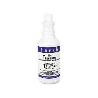 Fresh Products Terminator Deodorizer All-Purpose Cleaner, 32oz Bottles, 12/Carton