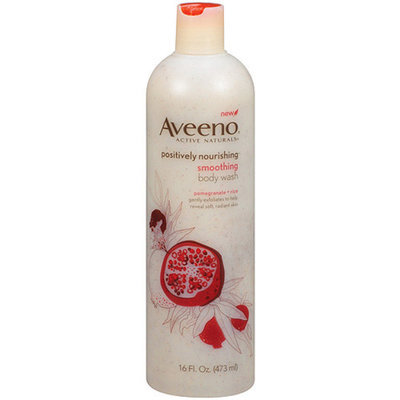 Aveeno Active Naturals Active Naturals Positively Nourishing Pomegranate + Rice Smoothing Body Wash