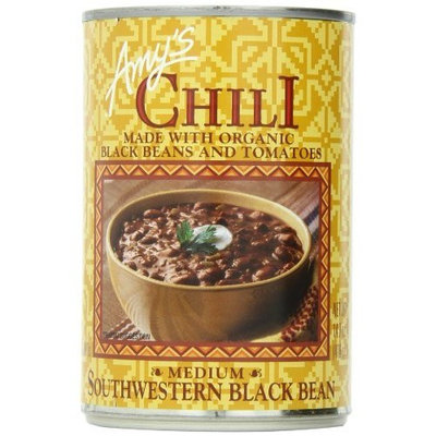 Amy's Organic Amy's Chili, Medium Southwestern Black Bean, 14.7 Ounce (Pack of 12)