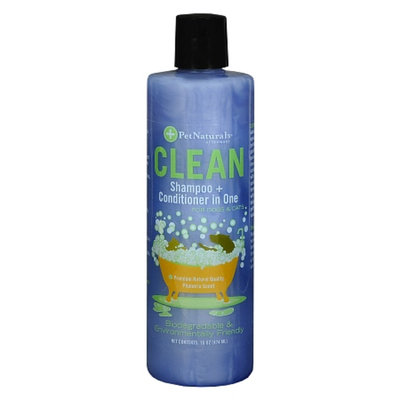 Pet Naturals Clean Shampoo + Conditioner in One for Dogs & Cats