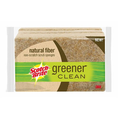 Scotch-Brite Greener Clean Natural Fiber Scrub Sponge