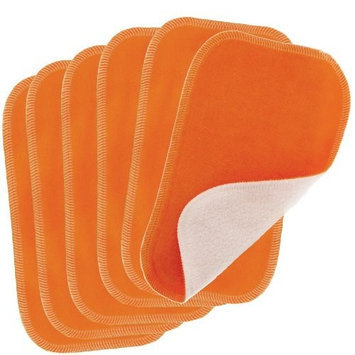 Blueberry by Swaddlebees 6 Piece Baby Cloth Wipes, Orange