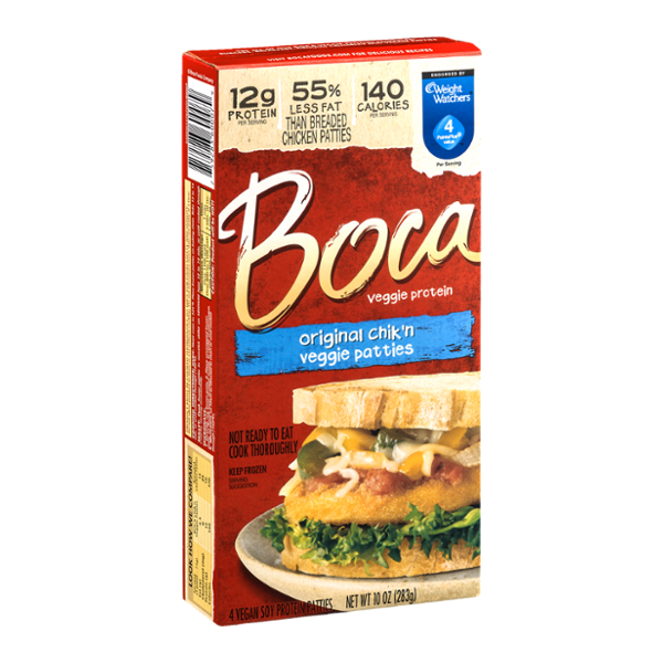 Boca Veggie Protein Original Chik'n Veggie Patties - 4 CT