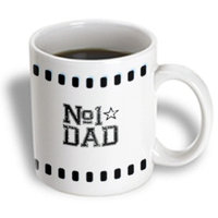 Recaro North 3dRose - PS Creations - Number 1 Dad - Fathers - Fathers Day Art - 11 oz mug