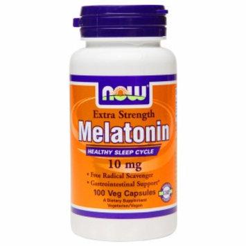 NOW Foods Extra Strength Melatonin 10mg, Veggie Capsules, 100 ea
