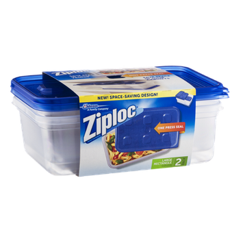 Ziploc One Press Seal Large Rectangle - 2 CT