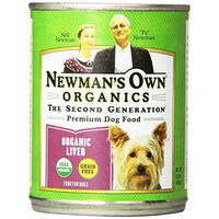Newman's Own man's Own Organics Liver Grain-Free for Dogs, 12-Ounce Cans (Pack of 12)