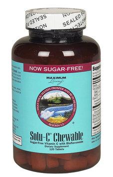 Maximum Living, Inc. Solu C Chewable Sugar Free, 120 tablets