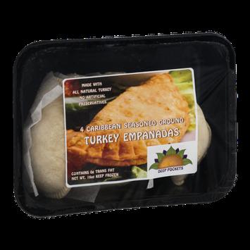 Deep Pockets Turkey Empanadas Caribbean Seasoned Ground - 4 CT