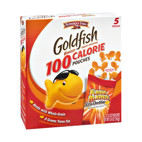 Goldfish® Flavor Blasted 100 Calorie Xtra Cheddar Snack Cracker Pouches