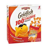 Pepperidge Farm Goldfish 100 Calorie Flavor Blasted Xtra Cheddar Snack Cracker Pouches - 5 CT