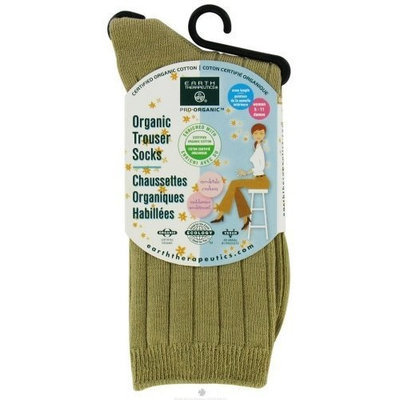 Womens Organic Trouser Socks Camel by Earth Therapeutics - 1 Pair