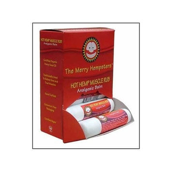 The Merry Hempsters Hot Hemp Muscle Rub Counter Display 0.6oz/12pc from The Merry Hempsters