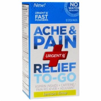UrgentRx Ache & Pain Relief to-Go, Lemon Lime, 10 ea