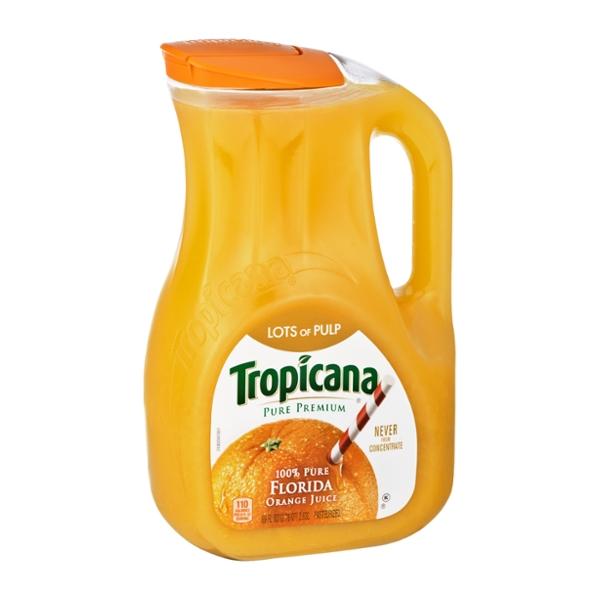 Tropicana® Pure Premium 100% Pure Florida Orange Juice Lots Of Pulp