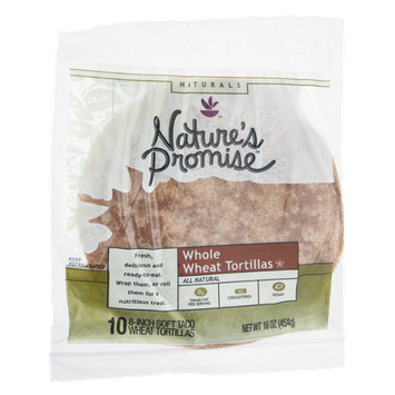 Nature's Promise Naturals Whole Wheat Tortillas - 10 CT