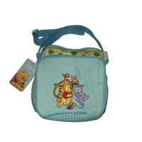 Disney Pooh & Friends Zip Top Pockets Boys Blue Pattern Mini Diaper Bags