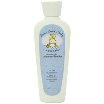 Susan Brown's Baby Sensitive Baby Lotion-to-powder , Talc Free -oil & Fragrance Free, 7.6-Ounce Bottle