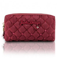 Jacki Design ABC15016BK Bella Donna Cosmetic Bag with Double Zipper Black