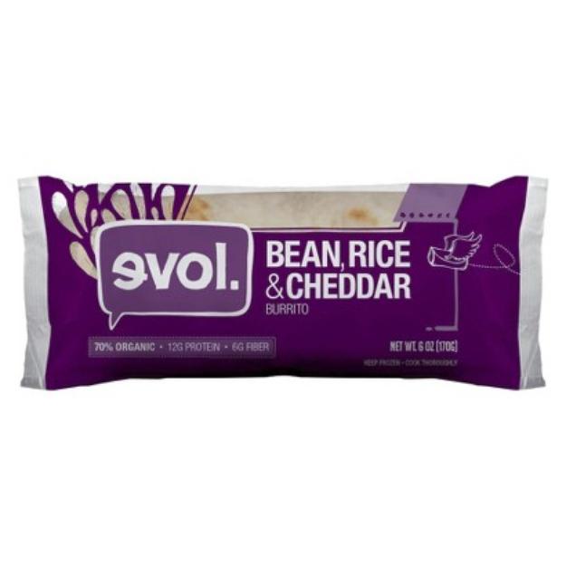 Evol Bean, Rice and Cheddars Burrito - 6 oz