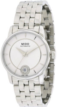 Mido Baroncelli Silver Dial Stainless Steel Ladies Watch M0072071103600