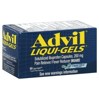 Advil Liqui-Gels 200 mg Pain Reliever/Fever Reducer 80 + 20 Free Each