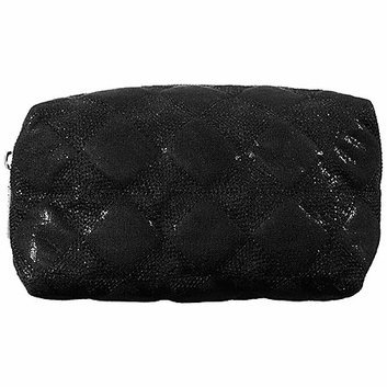 SEPHORA COLLECTION Quilted Bag Collection - Black Medium Cosmetic Case 7 x 4 x 3.5