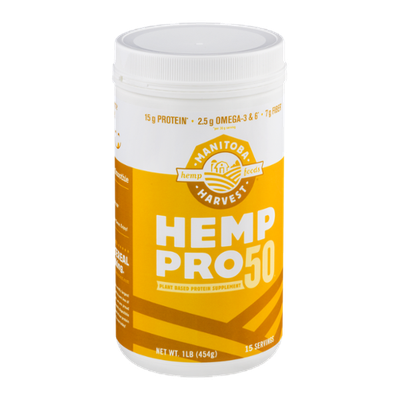 Manitoba Harvest Hemp Pro 50 Plant Based Protein Supplement