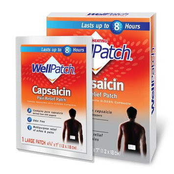WellPatch Natural Capsaicin Pain Relief Patch