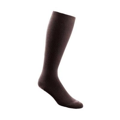 Sigvaris 186CC99 Casual Cotton 15-20mmHg Closed Toe Men's Knee High Sock Size: C (11.5-14), Color: Black 99