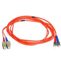 Monoprice Fiber Optic Cable, ST/SC, OM1, Multi Mode, Duplex - 3 meter (62.5/125 Type) - Orange