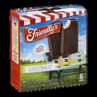 Friendly's Ice Cream Bar Coconut - 6 CT