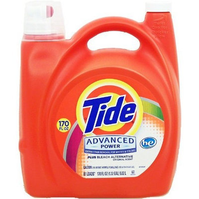 tide advanced power plus bleach alternative liquid laundry detergent he turbo clean 170 oz