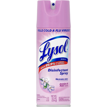 Lysol Jasmine and Rain Scent Disinfectant Spray